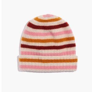 Madewell striped cashmere beanie